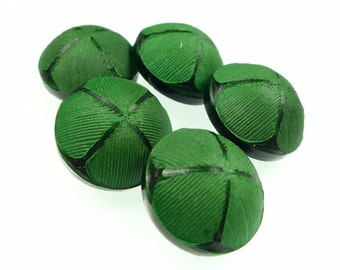 Buttons, Irish green 5pcs