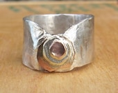 Shiny Silver Raw Free Form Ring