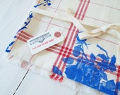 Table Cloth - La vie en Rose : Summer Blue on Classic Red Check