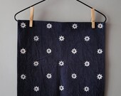 "Made to order : Navy Blue ""Etoile"" Napkins - Set of 4, Indigo & Cochineal Natural Dyed Cotton Fabric"