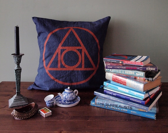 21 Inch Throw Pillow Covers : 21 inch Indigo Quintessence Throw Pillow Cover by knifeinthewater