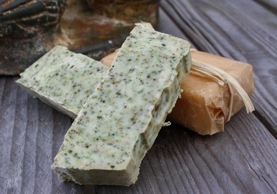 Custom Listing for 2 Vegan Organic Nettle & Green Tea Soap Bar Exfoliating for Lucivavenice