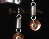 Nut and Spring Brown Earrings