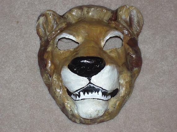 Papier mache african lion mask - Masque papier mache ...