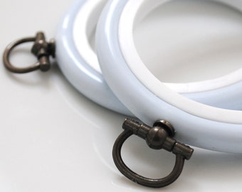 2 Flexi Hoops Pale Blue  - 2.5 inch - Flexible Plastic Embroidery Hoops