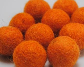 2cm Wool Felt Balls - Pack of 20 - Tango