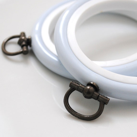 2 Flexi Hoops Pale Blue  - 4 inch