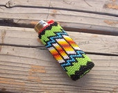 Native American Beaded Lighter Cover - DANCING with the ELDERS