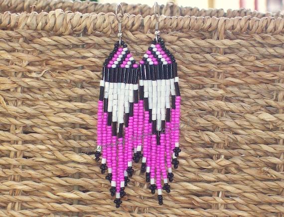 Native American Beaded Earrings - FANCY DANCE