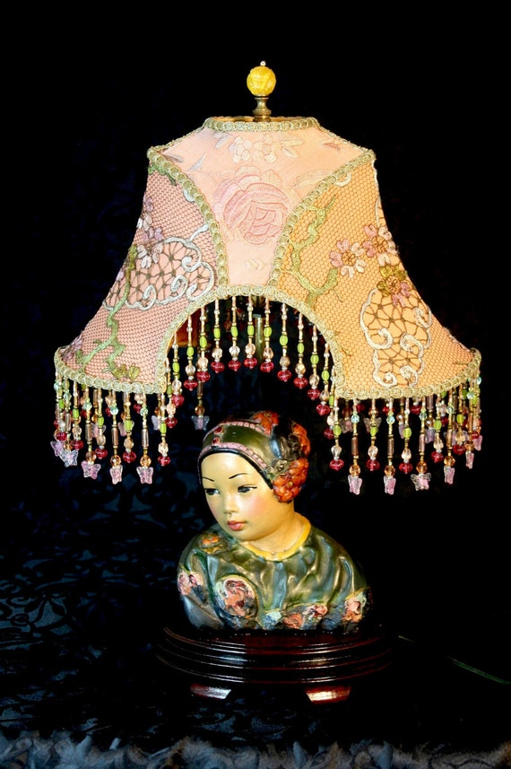 VINTAGE Esther Hunt Bust Chinese Lamp - OOAK and STUNNING