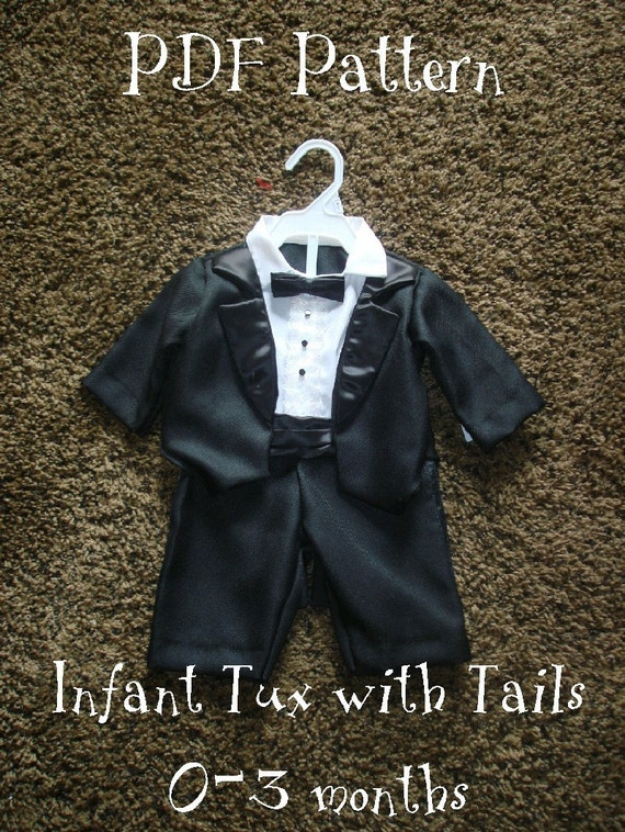 Sewing Pattern Infant Tuxedo With Tails By Tinytuxntails