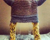 Crochet Viking Braids Hat