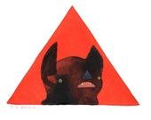 Little Squeeno Bat . print