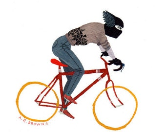 kid delicious doomhawk bicycle .  Doom Division . print