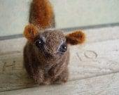 Darling little chipmunk, a felted wool sculpture