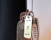 Urban Romantic Mixed Metals Charm Necklace Gathering Personalized OOAK CUSTOM