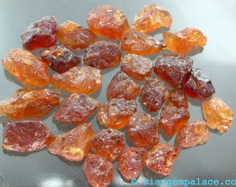 Mandarin Garnet OrAnGe  Spessartite . RoUgH tOp CaBoChOn. FrEeFoRm. 6 pc. 8 to 10 mm 20 cts (ga137a)