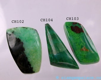 ReDuCEd PrIcE CHRYSOCOLLA in Black Matrix . Freeform Cabochon. Unique Colorful Material Cut in USA (Chy102)