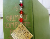A novel thrown with great force - Dorothy Parker Quote - hand stamped bookmark -Made to Order-