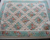 Irish Chain Baby Quilt Wall Hanging Cottage Chic