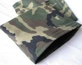 Reuseable Sandwich Bag  Green CAMO print