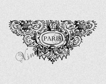 PARIS Instant Download for Iron On Image Transfer for Burlap, Tote Bags, Tea Towels, Pillows 199