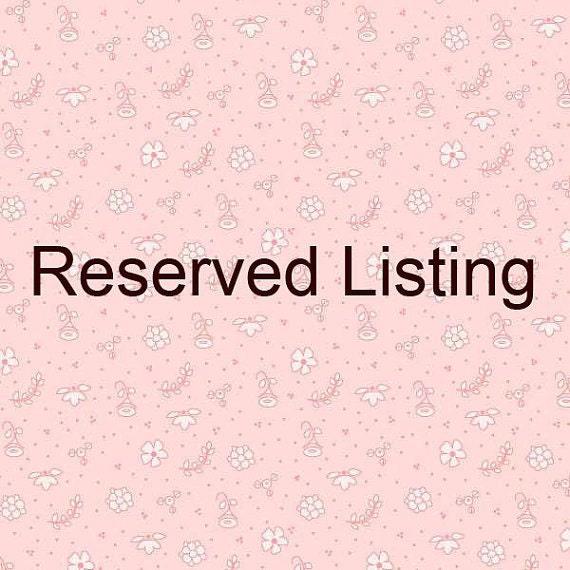 Rreserved listing for kcooper