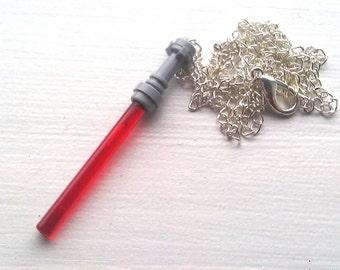 RED Star Wars Lightsaber Necklace