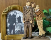 WOODEN SCULPTURE, Wood Carving. Custom Made, Vintage photo, Wooden Photo Carvings starting at - 100.00