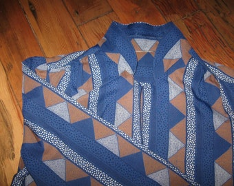 Art Spots Me 1960s Puffed Sleeves Blouse