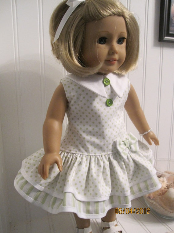 American Girl Doll Dress 1930's Party Dress Set