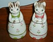 Otagiri Cat Shakers Salt and Pepper Figurals Japan On Sale
