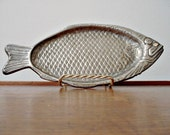 Vintage Fish Tray Plate Metal Modello Depositato Style Possibly Silver Plated