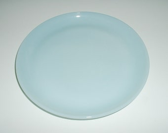 Vintage Fire King Turquoise Blue Salad Plate 7 1/4 Inch Mid Century Anchor Hocking Fire-King Glass 1950's