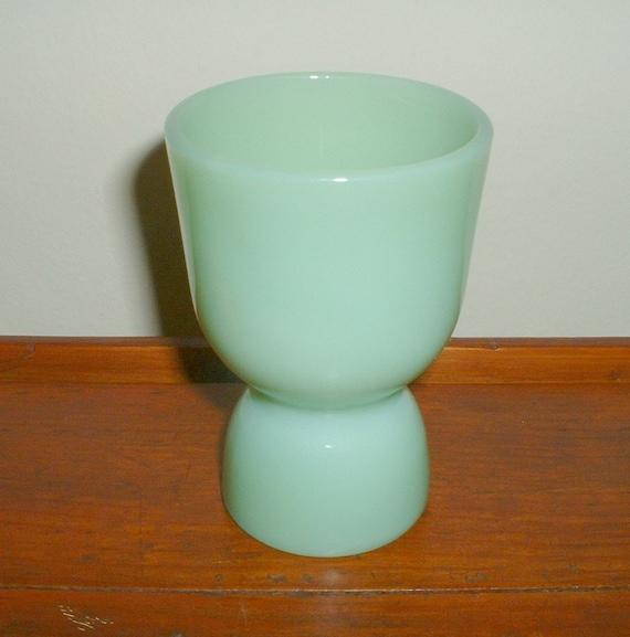 Vintage Fire King Jadite Egg Cup Jadeite Double Egg Cup