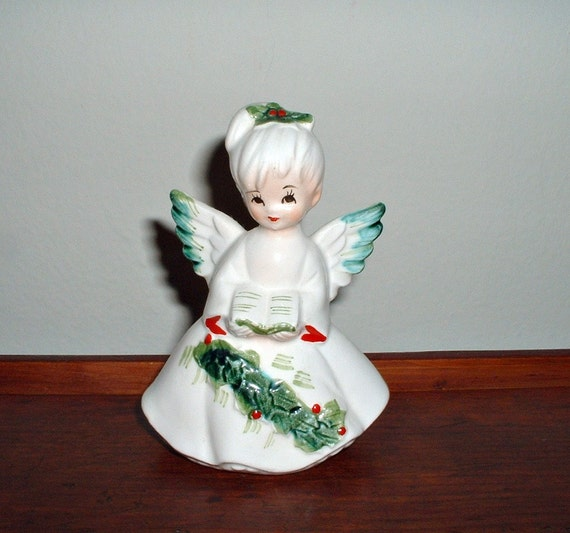 Singing Carolers Candleholders Figurines Vintage By: Vintage Lefton Christmas Angel Figurine Caroler By