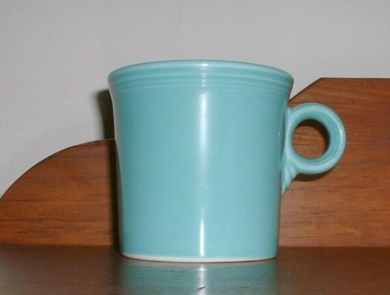 Fiesta Ware Turquoise Mug  Fiesta Homer Laughlin Cup Tom and Jerry Mug