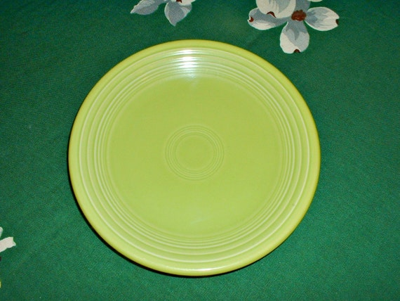 Fiesta Ware Chartreuse Salad Plate Retired Color Homer Laughlin
