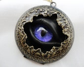 Steampunk Necklace Sightmares Eye - Lucretia Borgia in purple by Dr Brassy Steampunk - DrBrassysSteampunk