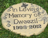 Pet memorial stone marker PERSONALIZED NAME / Custom name and wording Inscribed on garden plaque