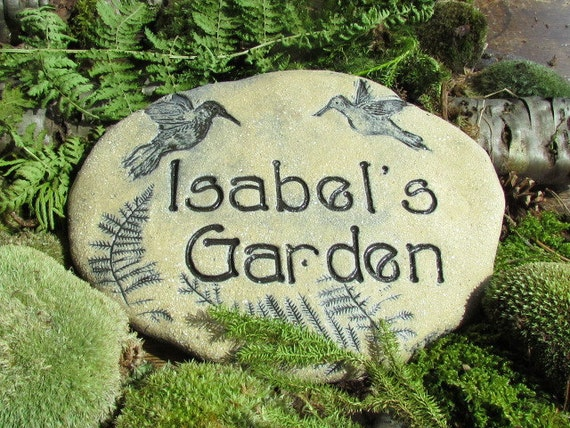 Personalized garden stones personalized sign herb by for Personalized garden stone