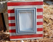 5x7 Patriotic Photo Frame: Red, White and Blue