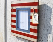 5x7 Red, White and Blue Patriotic Handcrafted Frame