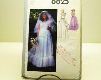 vintage simplicity 8825 bridal gown  size10