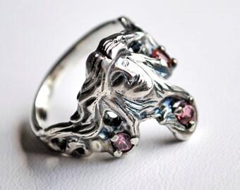 Tourmaline Goddess Ring