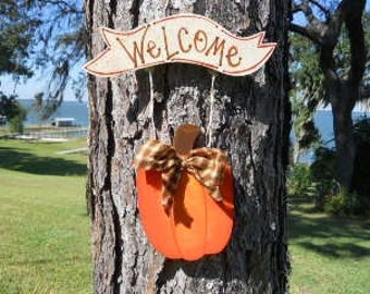 FALL, Pumpkin, Welcome, Sign