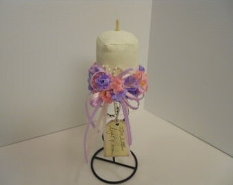 Spring Candle Make Do Pink and Purple