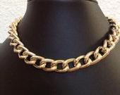 Sunny Bunny,  Textured Chunky Gold Chain, Super Light Gold