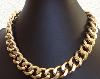 Freedom, Large Chunky Gold Chain, Super Light Gold