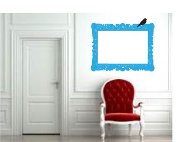 Old Frame with Bird- Wall Decal